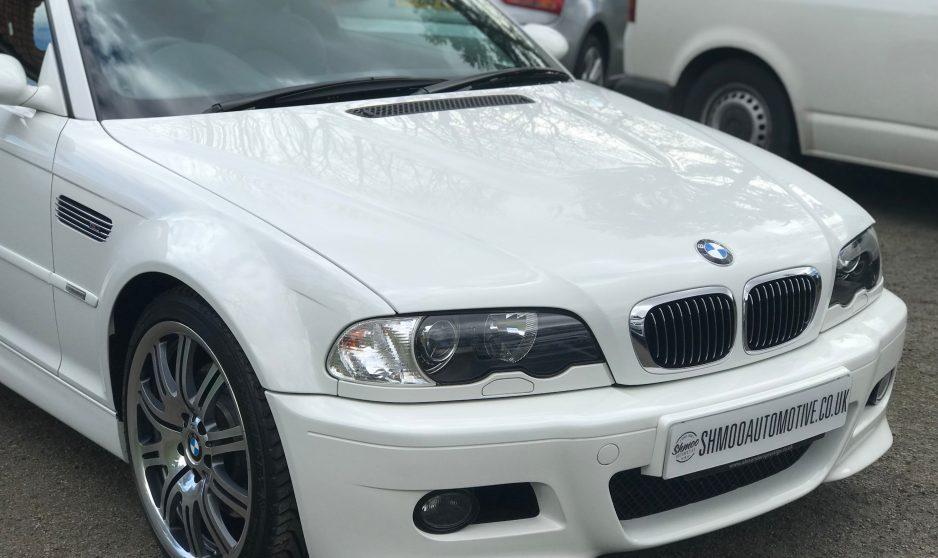 BMW M3 E46 SMG Coupe White - For Sale - 2,250 miles - Shmoo Automotive Ltd. Collectors dream. Low Miles.